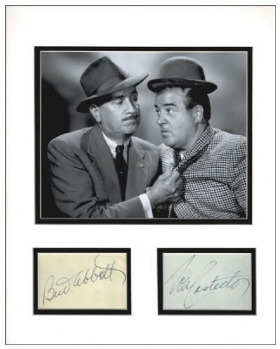 Bud Abbott and Lou Costello Autograph Display